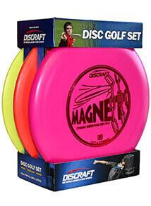 Discraft Starter Pack Beginner Disc Golf Set (3-Pack) 1 Driver, 1 Mid-Range, 1 Putter (Assorted Colors)