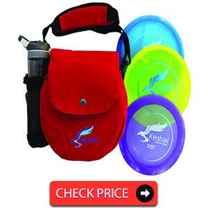 Kestrel Discs Golf Pro Set 3 Disc Pro Pack Bundle and Small Bag